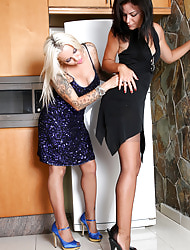 Amazing Astrid  & Astrid's Angels | Bohemian Stocking Pics | Horny MILF With Fat Chest In Stockings And High Heels