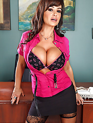 Lisa Ann Pictures in Fuck with along to Top